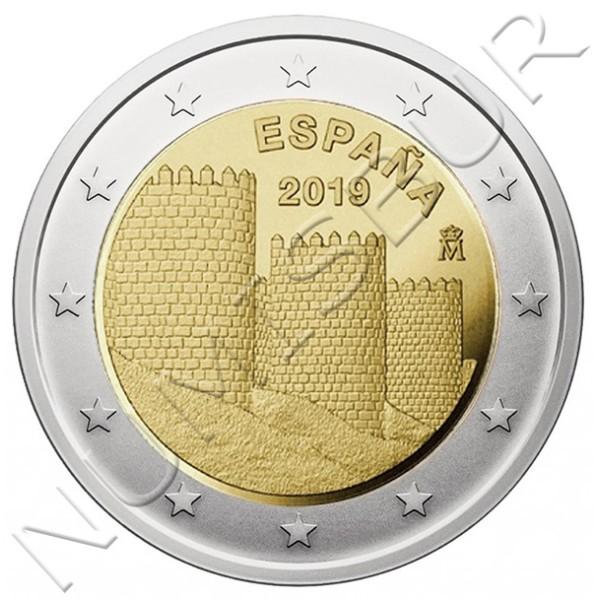 2€ SPAIN 2019 - Wall of avila
