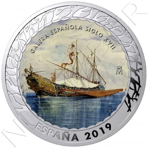 1.5€ SPAIN 2019 - Galera Española siglo XXVII 3th series