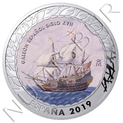 1.5€ SPAIN 2019 - Galeón Español del siglo XVII 4th series