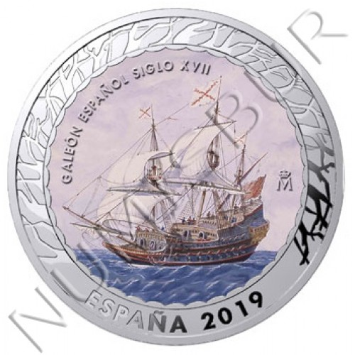 1.5€ SPAIN 2019 - Galeón Español del siglo XVII 4th series