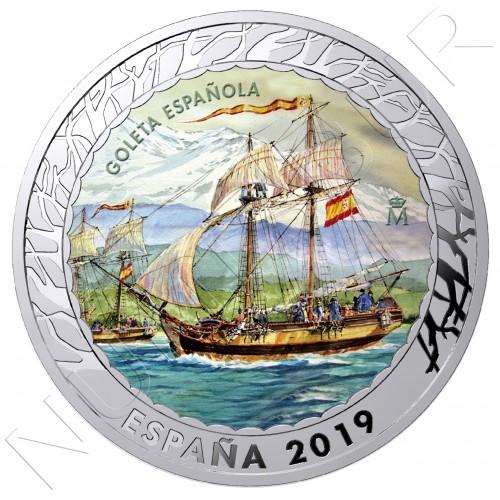1.5€ ESPAÑA 2019 - Goleta Española 5ª serie