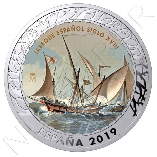 1.5€ ESPAÑA 2019 - Jabeque Español Siglo XVIII 5ª serie