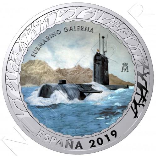1.5€ ESPAÑA 2019 - Submarino Galerna 5ª serie