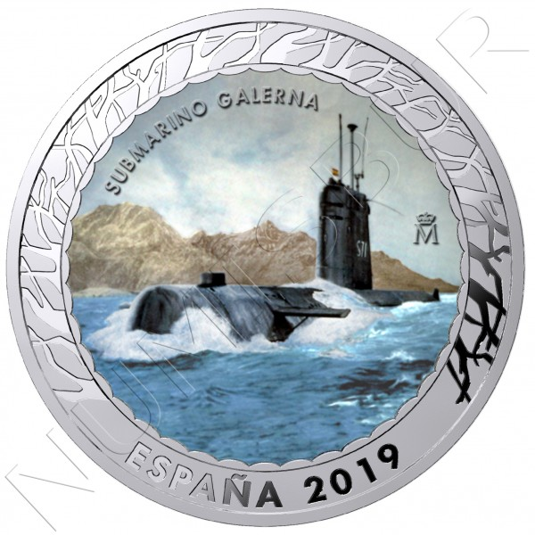 1.5€ SPAIN 2019 - Submarino Galerna 5th serie