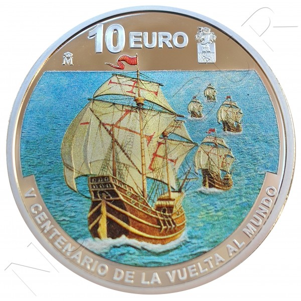10€ SPAIN 2019 - V centenary of the round the world