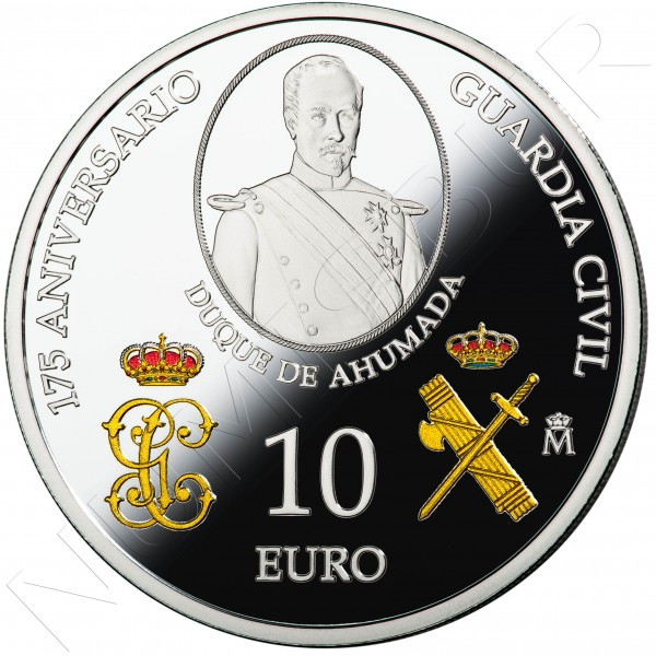10€ SPAIN 2019 - 175 aniv. Guardia Civil