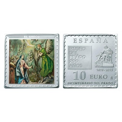 "10€ SPAIN 2019 - The announcement ""EL GRECO"""