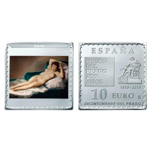 """10€ SPAIN 2019 - La maja desnuda """"GOYA"""""""