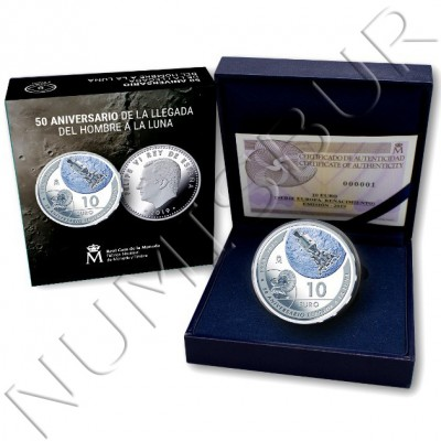10€ SPAIN 2019 - 50th anniversary arrival of man to the moon