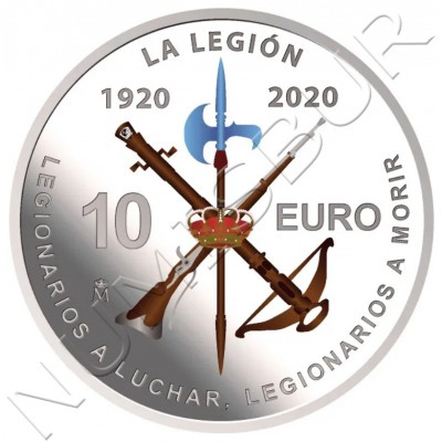 10€ SPAIN 2020 - Centennial of the Spanish Legion (06/16/2020)