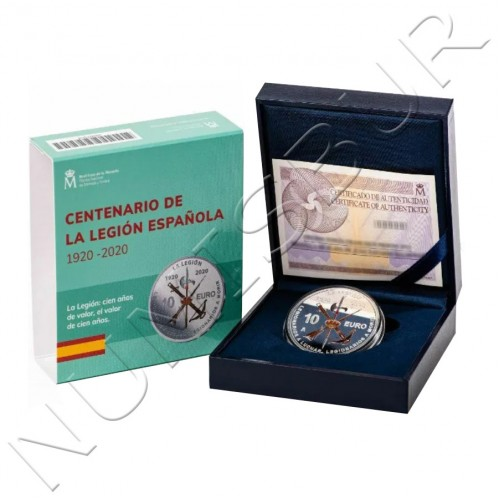 10€ SPAIN 2020 - Centennial of the Spanish Legion (06/16/2020)