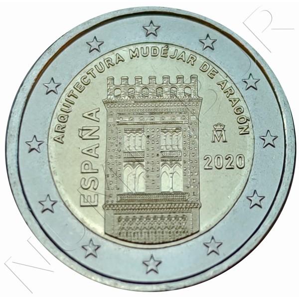 2€ SPAIN 2020 - Mudejar architecture of Aragon