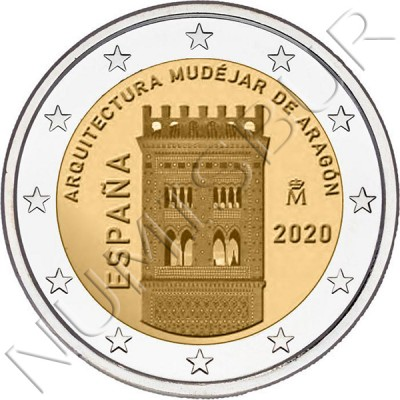 2€ SPAIN 2020 - Mudejar architecture of Aragon