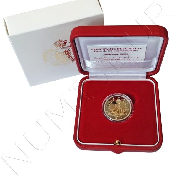 2€ MONACO 2020 - Tercentenary of Prince Honoré III