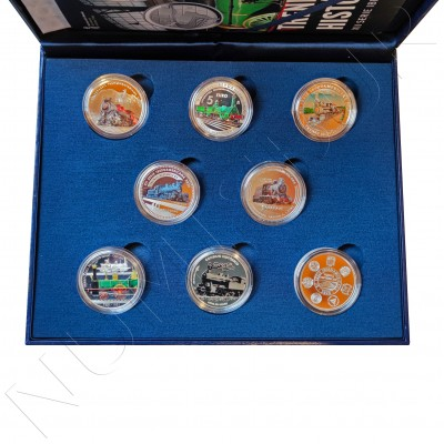 Complete collection SPAIN 2020 - Historical trains XII IBEROAMERICANA SERIES