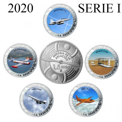 1.50€ SPAIN 2020 - History of Aviation (SERIE I)