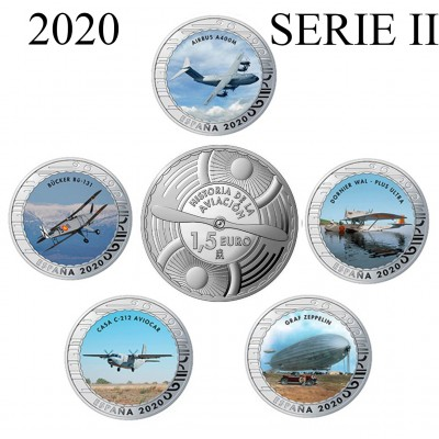 1.50€ SPAIN 2020 - History of Aviation (SERIE II)