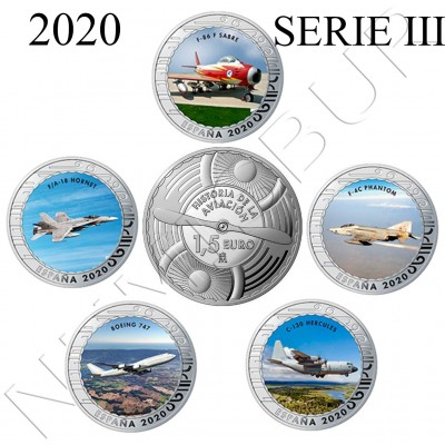 1.50€ SPAIN 2020 - History of Aviation (SERIE III)