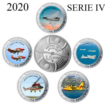 1.50€ SPAIN 2020 - History of Aviation (SERIE IV)