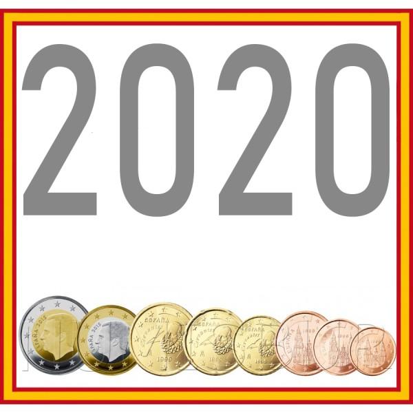 Tira SPAIN 2020 - 8 coins euro