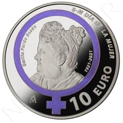 "10€ SPAIN 2021 - March 8 Women's Day ""Emilia Pardo Bazan"""