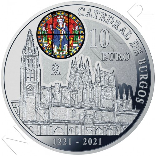 10€ SPAIN 2021 - 800th anniversary of Burgos Cathedral