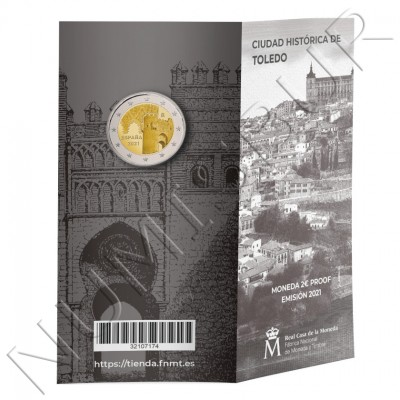 "2€ SPAIN 2021 -  Sinanoga Semuel Leví / Puerta del Sol ""TOLEDO"" PROOF"