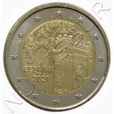 "2€ SPAIN 2021 - Sinanoga Semuel Leví / Puerta del Sol ""TOLEDO"""