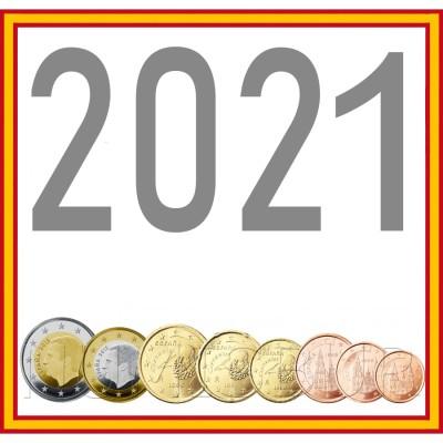 Tira SPAIN 2021 - 8 coins euro