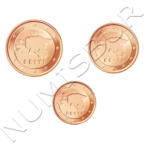 1, 2 y 5 centimos ESTONIA 2011 - S/C