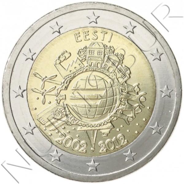 2€ ESTONIA 2012 - 10º aniv. EURO