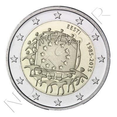 2€ ESTONIA 2015 - XXX aniv. de la bandera Europa