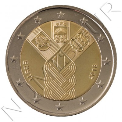 2€ ESTONIA 2018 - Centenario fundación Paises Balticos