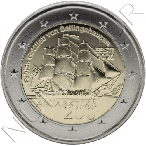 2€ ESTONIA 2020 - 200th anniv. of the discovery of Antarctica
