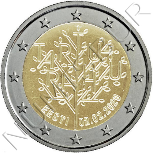 2€ ESTONIA 2020 - Centenary of the peace treaty of Tartu