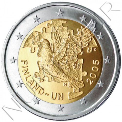 2€ FINLAND 2005 - 50 anniv. entrance to the ONU