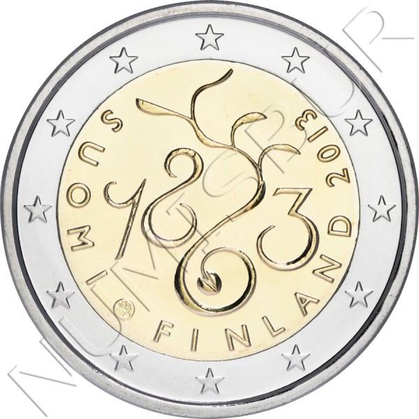2€ FINLANDIA 2013 - 150 Aniversario del Parlamento de Finlandia