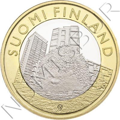 5€ FINLANDIA 2015 - Erizo