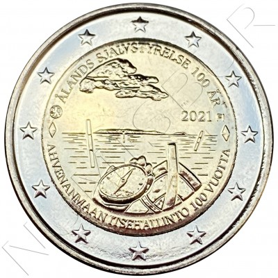 2€ FINLAND 2021 - 100th anniversary of the self-government of the Åland region