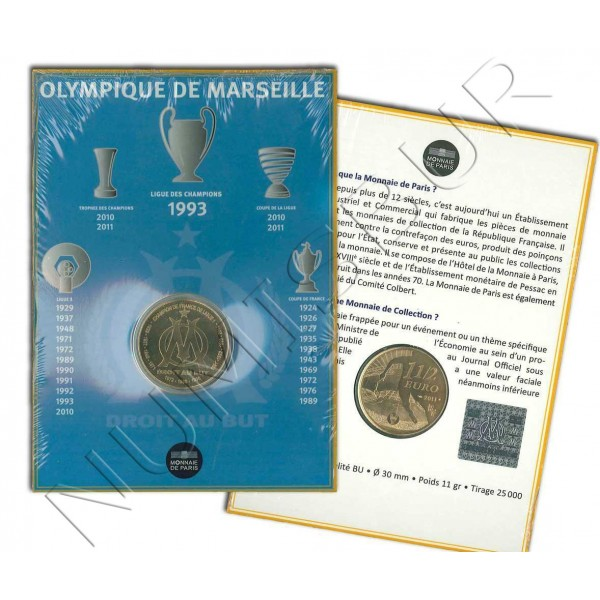 1,5€ FRANCIA 2011 - Olympique de Marseille