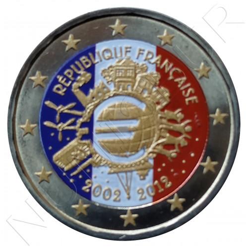 2€ FRANCIA 2012 - 10º aniv. EURO (COLOR)