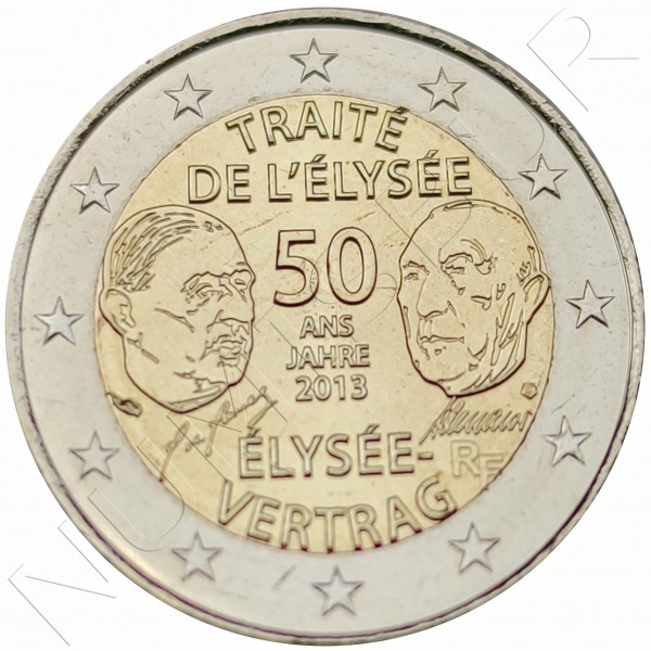 2€ FRANCE 2013 - Treaty of Elysee