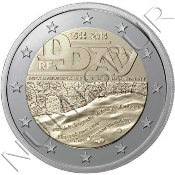 2€ FRANCE 2014 - 70 aniv. of D day
