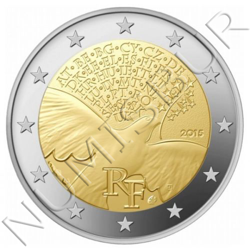 2€ FRANCE 2015 - Peace in Europe