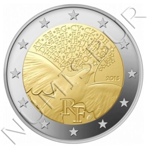 2€ FRANCIA 2015 - Paz en europa
