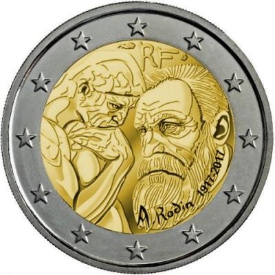 2€ FRANCIA 2017 - Auguste Rodin