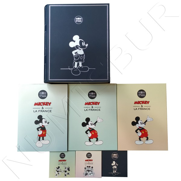 Mickey in France complete collection - SILVER / GOLD