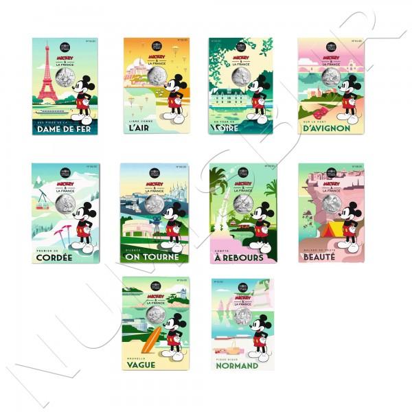 10€ FRANCIA 2018 - Mickey en Francia coleccion completa 1/20