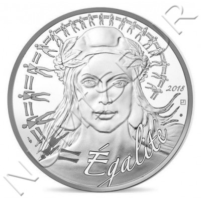 20€ FRANCIA 2018 - Marianne Equality
