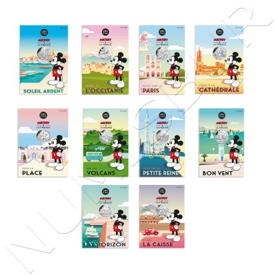 10 € FRANCE 2018 - Mickey in France complete collection 1/20